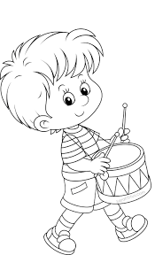 Little Boy Coloring Pages Breadedcat Free Online