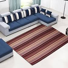 Buy Ustide Low Pile Cotton Carpet Naval Blue Striped Pattern Contemporary Simple Design Area Rug Washable 5x7 In Cheap Price On Alibaba