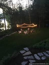 Triyae.com = Backyard String Lights Post ~ Various Design ... Outdoor String Lights Patio Ideas Patio Lighting Ideas To Light How To Hang Outdoor String Lights The Deck Diaries Part 3 Backyard Mekobrecom Makeovers Decorative 28 Images 18 Whimsical Hung Brooklyn Limestone Tips Get You Through Fall Hgtvs Decorating 10 Ways Amp Up Your Space With Backyards Ergonomic Led Best 25 On Pinterest On