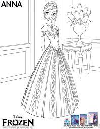 Anna Coloring Sheet From Disneys Frozen