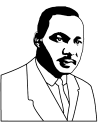 Good Looking Martin Luther King Coloring Page