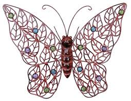 Metal Outdoor Wall Art Hanging Large Butterfly Indoor