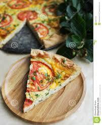 tranche de tarte de pizza de casse croûte de pâte feuilletée avec