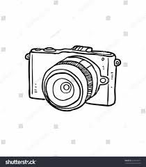 Hand Stock Vector Icon Vintage Camera Outline Retro Slr Isolated