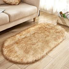lammfell schaffell teppich kunstfell dekofell teppich weich lammfellimitat longhair fell optik nachahmung wolle bettvorleger sofa matte shaggy