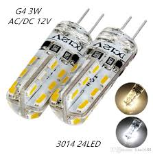 2018 g4 led l dc 12v smd3014 silicone 3w replacement 20w