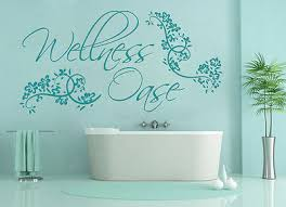 decals stickers vinyl wellnessoase badezimmer bad