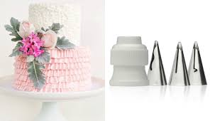 Cakes Decorated With Russian Tips by How To Make A Ruffle Cake With New Tips Cake Style Youtube