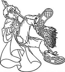 Harry Potter Preparing Riding Broomsticks Coloring Pages For Kids Printable