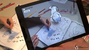 Disneys Augmented Reality Coloring Book Brings Characters To Life