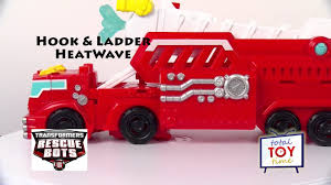 100 Rescue Bots Fire Truck 2016 Transformers Heatwave Hook Ladder Trailer Water Cannon 4K