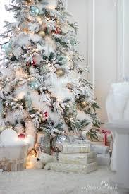 75 Flocked Christmas Tree by The Flocked Tree U2013 Secret Garland Revealed