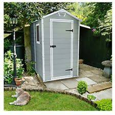 Keter Manor Shed Grey by Keter Outdoor Garden Storage Shed Foundation Lockable Manor 46s