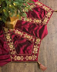 72 Inch Christmas Tree Skirts by Burgundy And Gold Christmas Tree Skirt Balsam Hill