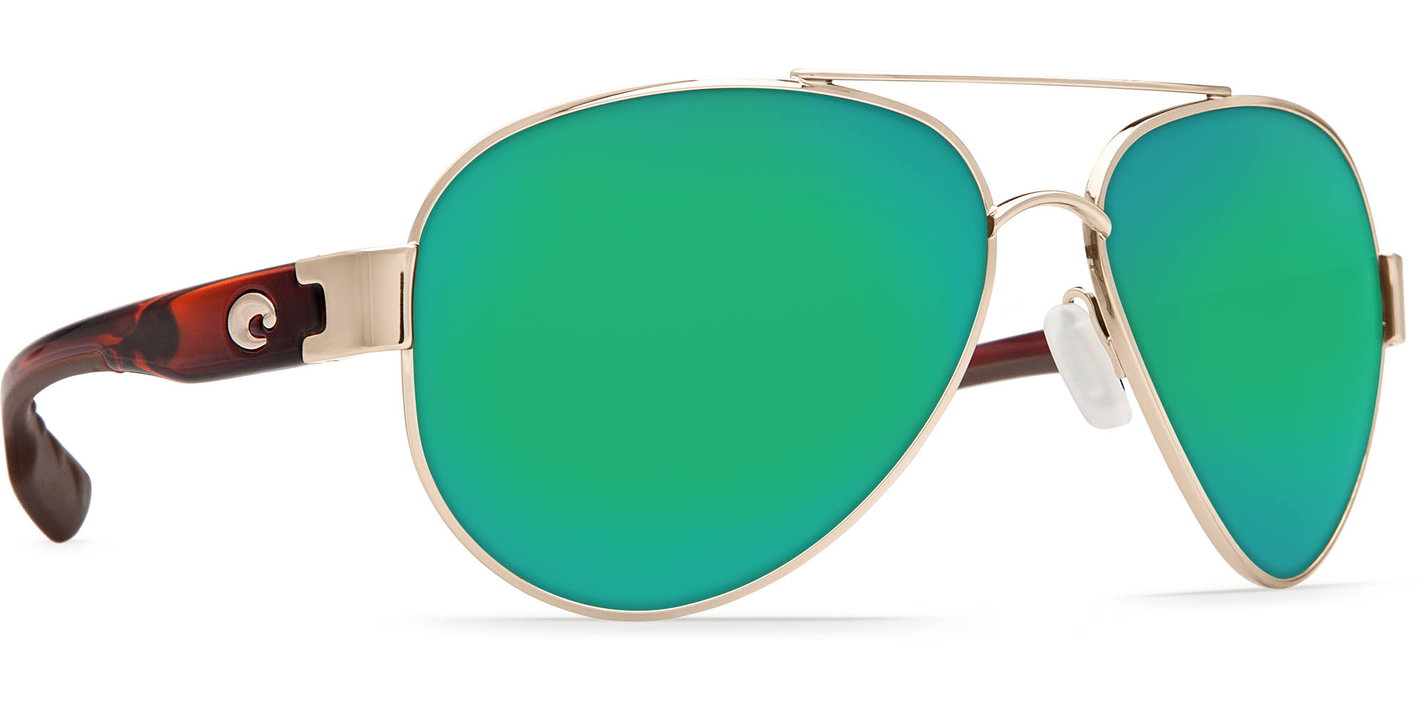 Costa Del Mar South Point Sunglasses - Rose Gold and Green Mirror