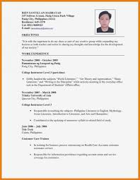 Resume Sample Philippine College Usa Templates Stupendous Format For Job Application In Philippines Helpful Photograph Furthermore Jobtion Letter Malaysia
