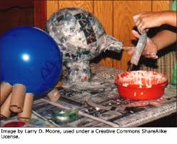 Kids Making Fun Crafts For In Terms Of Paper Mache On Balloons