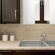 elitetile 3 x 6 glass subway tile in sandstone reviews