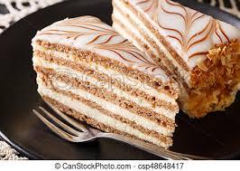 wunderschöner ungarischer esterhazy kuchen auf einem
