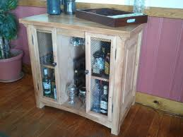Make Liquor Cabinet Ideas by Painted Open Diy Liquor Cabinet With Hanging Glass Rack And Shelf