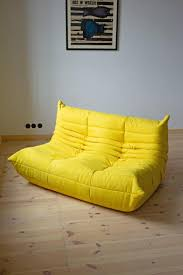 100 Ligne Rosse Vintage Yellow Togo Living Room Set By Michel Ducaroy For Roset