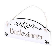schild badezimmer vintage türschild mit ornamenten