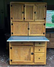 1920s Two Piece Oak Hoosier Kitchen Cabinet