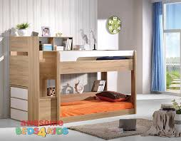 2 Springbrook Low Line Bunk Bed Oak White Awesome Beds 4 Kids