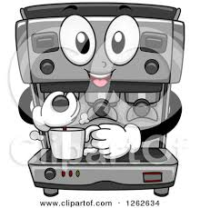 Clipart Of A Happy Espresso