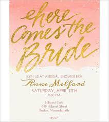 Bridal Shower Free Online Invitation Template