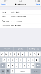 How to set up your POP3 email account on an Apple iPhone or iPod