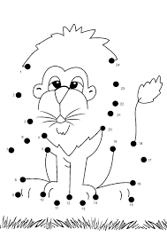 Coloring Games For Preschoolers Online Pages Free Printable Kids Lion Dot