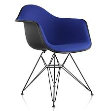 Eames Molded Plastic Armchair With Wire Base, Upholstered   YLiving Eames Molded Plastic Armchair Wire Base Herman Miller Fiberglass Armchairs Office Molded Plastic Chairs Peugennet Style Mid Century Modern Shell Arm Upholstered Hmanmiller Dowel The Chair Photo Home Ideas Collection Side Block Club Headquarters Buffalo Quiet Nook Birch Plywood