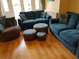 DFS Living Room Sofa Set, 2 X 2 Seater Sofa,1 Swivel Chair, 3 Footstool In  Good Condition | In Sutton, London | Gumtree