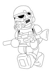 LEGO Stormtrooper Coloring Pages
