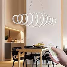 led pendelleuchte dimmbar modern design hängele 6200lm weiß pendelleuchte kreativ fernbedienung led deckenleuchte esszimmer restaurant lichter
