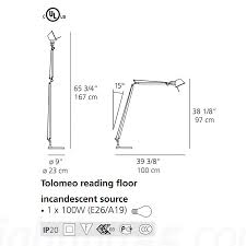 Tolomeo Desk Lamp Sizes by Reading Floor Lamp Elegant Floor Lamp Fluorescent Floor Lamp
