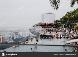 100 Infinity Swimming Viewpoint From Infinity Swimming Pool Of Marina Bay Sands Hotel