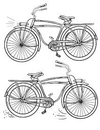 Free Bicycle Coloring Page