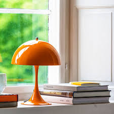 Louis Poulsen Panthella Mini Table Lamp Orange LOVINHOME