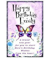 Happy Birthday Butterfly Purple Slate