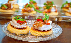 m and s canapes charlestonian lowcountry shrimp and grit canapes with basil bacon