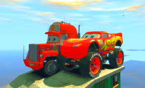 Lightning McQueen Monster Jam Mack Truck Disney Cars Jumping ...