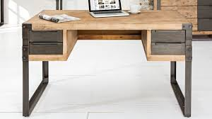 bureau industriel metal bois bureau droit design industriel bois massif et métal jorg gdegdesign
