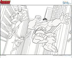 Printable Avengers Coloring Pages Disney