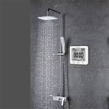 1pack weiß gxstwu digitale badezimmer uhr mit wecker magnet