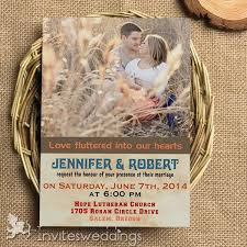 Cheap Contry Photo Wedding Invitations IWI324