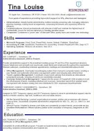 Job Resume Samples 2016 Pertaining To