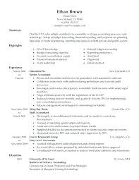Cpa Resume Template Templates Lovely Artist