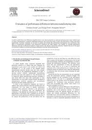 evaluation of performance differences between manufacturing